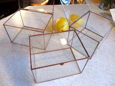 4 Deep Clear Glass Photo Display Box   Hinged Top  by SherriStudio