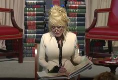 Singer-songwriter Dolly Parton celebrated the 100th million book her program has donated to children