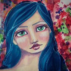 #29faces challenge -February 2018   #elenisartstuff #mixedmedia #art #artwork #artist #artistoninstagram #potd #pickoftheday #photooftheday #whimsical #fun #challenge #instalike #instaartist #instaart #instalove #instagood #jdmm #janedavenportjournal  #whimsicalart #paintedfaces #janedavenportinspired #janedavenportinspiresme