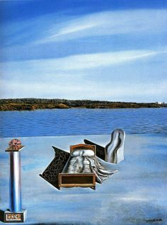 Salvador Dali - Surrealist Composition with Invisible Figure, 1936