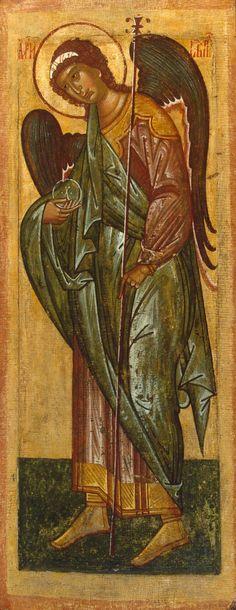 Icon: Archangel Gabriel First half of 16th century Russian