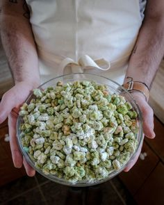 St. Patrick's Day Puppy Chow! - Easy, delicious, and just like from childhood--but with a little matcha for coloring