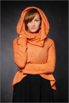 Orange circle design jacket by maijamade on Etsy, $90.00