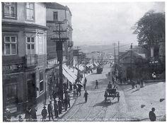 Década de 10 - Atual rua General Carneiro vista a partir do Largo do Tesouro. Foto: Aurélio Becherini.
