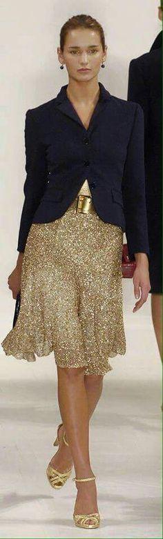 Gold skirt by Ralph Lauren