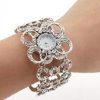 White Czechic Diamond Decorated Watch *free ship