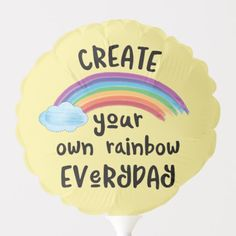 """""""Create your own rainbow everyday"""" Each of the colors with things hidden in the colors, a great marketing image! Rainbow Quote, Rainbow Theme, Rainbow Art, Rainbow Sayings, Rainbow Rocks, Motivational Words, Words Quotes, Inspirational Quotes, Unicorn Quotes"""