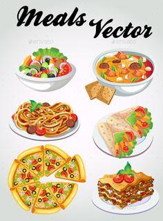 6 Vector Meals