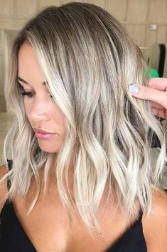 Ashy Blonde Balayage ❤️ Platinum blonde is one of the . - - Ashy Blonde Balayage ❤️ Platinum blonde is one of the biggest trends in the fashion industry, and not only nowadays, but it has . Ashy Blonde Balayage, Ashy Blonde Highlights, Platinum Highlights, Balayage Lob, Caramel Highlights, Reverse Balayage, Ombre Hair Color, Hair Color Balayage, Haircolor