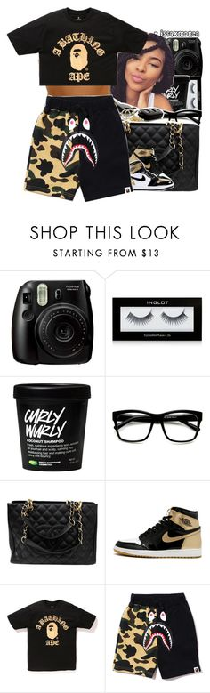"""""""Untitled #935"""" by issaxmonea ❤ liked on Polyvore featuring Fujifilm, Inglot, ZeroUV, Chanel and A BATHING APE"""