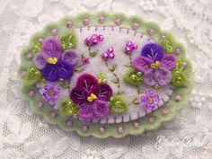 Pansy lover felt pansy pin Cute by GlosterQueen on Etsy, $27.00