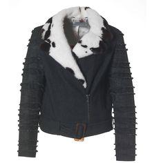 This cool fur fashion biker jacket is a Kopenhagen Fur design collaboration with Saks Potts. Stay tuned for more Saks Potts fur styles in Kopenhagen Fur's showroom!