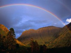 glen coe scotland | Early Evening Rainbow, Glencoe, Scotland