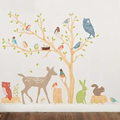 Epic Wandtattoo Wandsticker XXL Deko Tiere Kinder Affe Kinderzimmer Wald Baum Amazon de K che u Haushalt Wandaufkleber Pinterest Deko