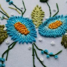 Hand Embroidery Flowers Design