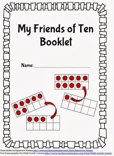Math Coach's Corner: Friends of Ten Booklet. FREE booklet for practicing combinations for making ten, also called Friends of Ten.