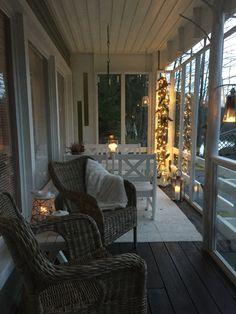 Käpyvalot Patio, Outdoor Decor, Home Decor, Decoration Home, Terrace, Room Decor, Porch, Interior Design, Home Interiors
