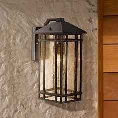"J du J Sierra Craftsman 16 1/2"" High Outdoor Light"