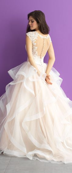 Romantic Ballgown Wedding Dress by Allure Romance 2017 Bridal Collection | @allurebridals
