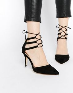 ASOS Sophia Lace Up Pointed Heels