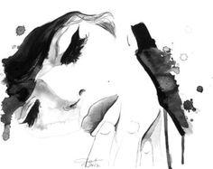 Acquerello e penna Fine Art Print, Jessica Durrant - senza titolo