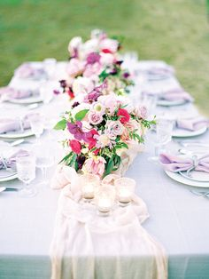 Spring pastel tablescape