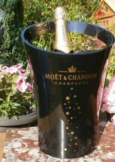 French Champagne Ice Bucket MOET & CHANDON par FrenchVintageByManue