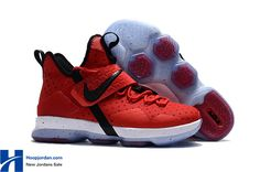 8d43e7ee3d3 Cheap Nike LeBron 14 University Red Black-White 2017 Release