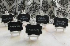 Mini White Blackboard Signs from Look Sharp