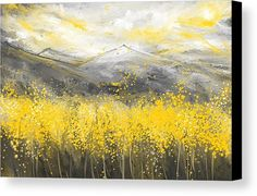 Neutral Sun – Yellow And Gray Art Canvas Print / Canvas Art by Lourry Legarde Yellow Canvas Print featuring the. Grey Canvas Art, Modern Canvas Art, Grey Art, Abstract Canvas, Oil Painting On Canvas, Canvas Art Prints, Multiple Canvas Paintings, Painting Abstract, White Art