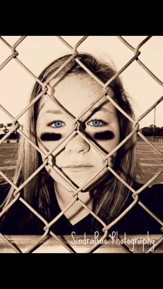 Softball girl. 13 yr old. Black & white.