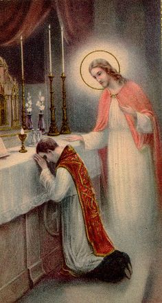 You are a priest forever in the order of Melchizedek.  As the father has sent me, so I send you.  Whoever hears you hears me.