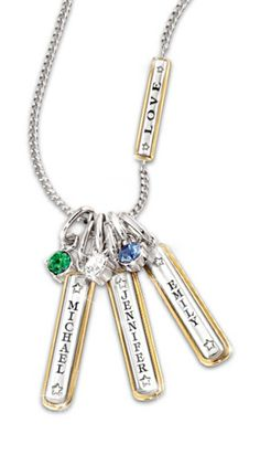 Grandmother necklace with names on pinterest birthstones for Grandmother jewelry you can add to