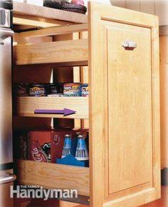 Кухня хранения проектов, которые создают больше пространства