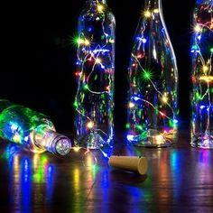 Shop for 20 LED Mini Bottle Stopper Lamp String Bar Decoration String Light. Get free delivery On EVERYTHING* Overstock - Your Online Outdoor Lighting Store! Wine Bottle Corks, Lighted Wine Bottles, Mini Bottles, Bottle Stoppers, Black Light Room, Led Curtain Lights, Fairy Lamp, String Lights Outdoor, Can Lights