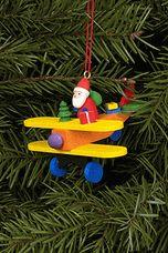 Santa Flying Airplane Tree Ornament - Christian Ulbricht GmbH & Co