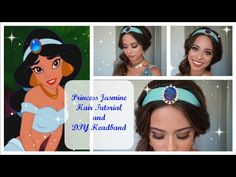 Princess Jasmine Hair Tutorial and DIY Headband