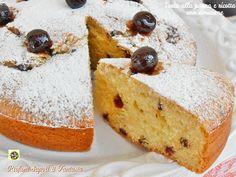 Torta+alla+panna+e+ricotta+con+amarene
