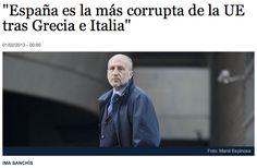 """""""España es la más corrupta de la UE tras Grecia e Italia"""""""
