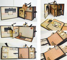 Mini Album Graphic 45 ABC Primer Handmade Scrapbook Album