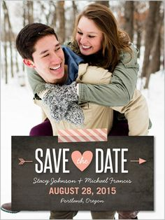 Chalked Together 4x5 Stationery Card   Save the Dates   Shutterfly