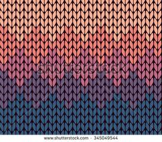 Seamless gradient knitted pattern