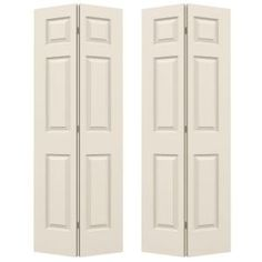 The Colonist Molded Interior door from JELD-WEN is perfectly suited to classic American architecture. The bi-fold door style helps to preserve valuable space and is perfect for places where a swinging Jeld Wen Interior Doors, Folding Closet Doors, Hollow Core Doors, Composite Door, Swinging Doors, Types Of Doors, Painted Doors, Texture Painting, Double Doors