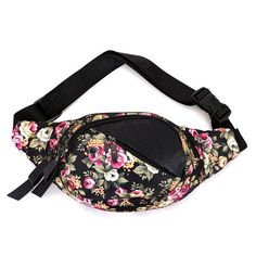 0917a3ccf35 High Quality Flower Pattern Multi-color Fun Waist Fanny Pack
