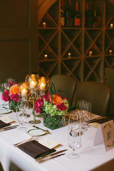 Table setup at Circa 1886 Restaurant wedding.