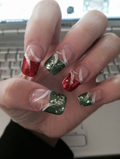 Nails I got done for Christmas 2013 : )