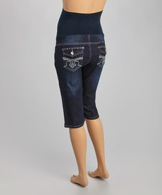 Loving this QT Denim Over-Belly Maternity Bermuda Shorts on #zulily! #zulilyfinds