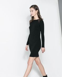Image 2 of DRESS WITH SHEER SHOULDERS from Zara