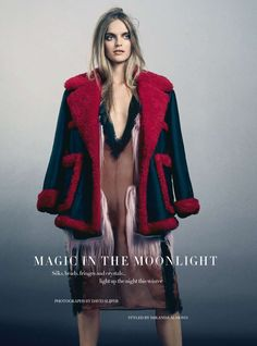 Mirte Maas Is 'Magic in Moonlight' By David Slijper For Harper's Bazaar December 2014 - 3 Sensual Fashion Editorials | Art Exhibits - Women's Fashion & Lifestyle News From Anne of Carversville