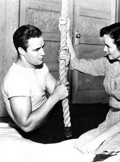 Marlon Brando & Teresa Wright - The Men, 1950